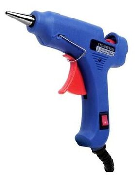 GLUN LEVIN 20W 20 WATT 7 MM (ON OFF SWITCH & INDICATOR) MINI HOT MELT GLUE GUN WITH 2 GLUE STICKS