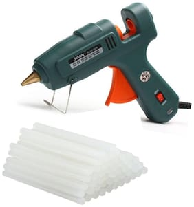 GLUN SIRON 60W 100W 60X100 WATT PROFESSIONAL (ON OFF SWITCH & INDICATOR) HOT MELT GLUE GUN WITH 15 GLUE STICKS