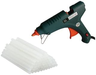 GLUN SIRON 80W 80 WATT PROFESSIONAL (ON OFF SWITCH & INDICATOR) HOT MELT GLUE GUN WITH 20 GLUE STICKS