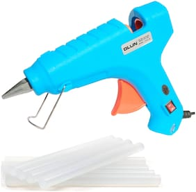 GLUN TURQUOISE 80W 80 WATT LEAK PROOF PROFESSIONAL (ON OFF SWITCH & INDICATOR) HOT MELT GLUE GUN WITH 8 GLUE STICKS