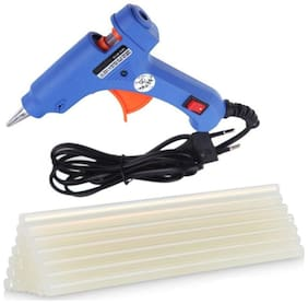 GLUN XUNLEI 20W 20 WATT 7 MM (ON OFF SWITCH & INDICATOR) MINI HOT MELT GLUE GUN WITH 25 GLUE STICKS