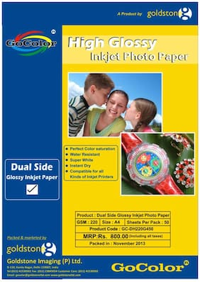 GoColor Duel Side Glossy Inkjet Photo Paper 220 GSM A4/ 50 sheet