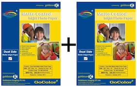 GoColor Duel Side Matte Coated Inkjet Photo Paper 220 GSM A4/ 50 sheet X 2 Pack Combo