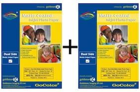 GoColor Duel Side Matte Coated Inkjet Photo Paper 220 GSM A4/ 50 sheet X 2 Pack Combo