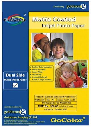 Duel Side Matte Coated Inkjet Photo Paper 220 GSM A4/ 50 Sheet