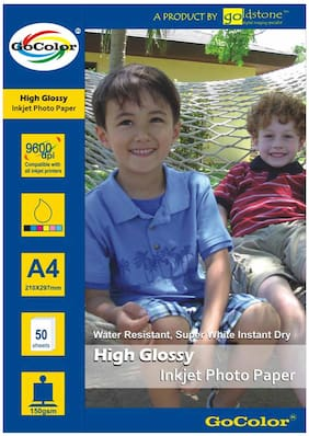 GoColor High Glossy Inkjet Photo Paper 150Gsm A4/ 50 Sheets