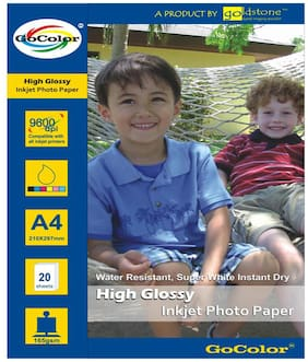GoColor High Glossy Inkjet Photo Paper 165 GSM 20 Sheets A4 Size