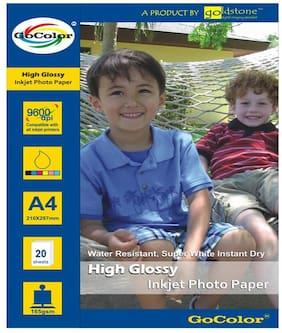 GoColor High Glossy Inkjet Photo Paper 165 GSM 20 Sheets A4 Size