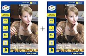 GoColor High Glossy Inkjet Photo Paper 185 GSM 200 Sheets 4R Size