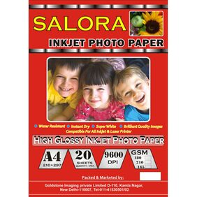 GoColor High Glossy Inkjet Photo Paper 180 Gsm A4/ 20 Sheets