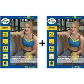 GoColor High Glossy Inkjet Photo Paper 240 GSM 40 Sheets A4 Size