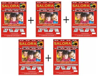 GoColor High Glossy Inkjet Photo Paper 180 Gsm A4/ 20 Sheets X 5 Pack Combo