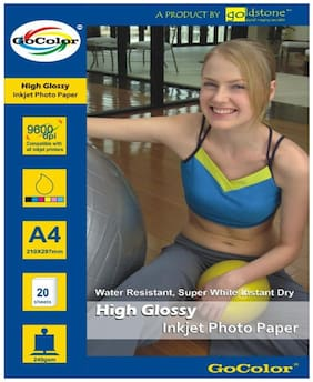 GoColor High Glossy Inkjet Photo Paper 240 GSM 20 Sheets A4 Size