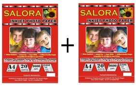 GoColor High Glossy Inkjet Photo Paper 180 Gsm A4/ 20 Sheets X 2 Pack Combo