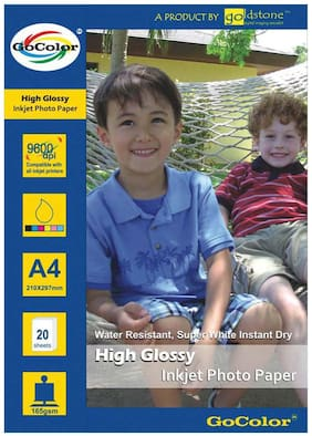 High Glossy Inkjet Photo Paper 165 GSM A4/ 20 Sheets X 3 Pack Combo