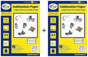 GoColor Sublimation Inkjet Photo Paper 100 GSM A4/ 100 Sheet X 2 Pack Combo