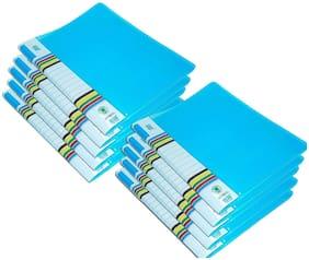 GreatDio 10 pcs Transparent File Folder Case , A4 Size Presentation File / Report File Super Line Transparent Report File