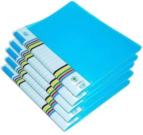 GreatDio 5 Pcs Transparent File Folder Case , A4 Size Presentation File / Report File Super Line Transparent Report File