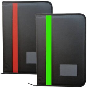 GreatDio Faux Leather Material Professional File Folders For Certificates;Documents Holder With 20 Leafs (Size-B4;Color: Black;Set Of 2 )