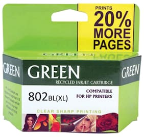 Green 802XL Ink Cartridge (Black)