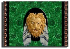 GREETING CARD Messianic Jewish Lion of Judah Tallit HANDMADE matte finish
