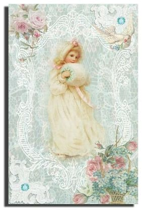 GREETING CARD Shabby Chic pastels BLANK any occasion Victorian HANDMADE