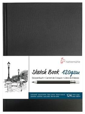 Hahnem hle Spiral-Bound Sketch Book (Black Cover, A4, 60 Sheets)