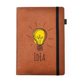 Hamee -Idea- Tan Brown Leather Notebook