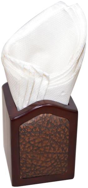 Handcrafted Wooden Brown Tissue Paper Napkin Holder