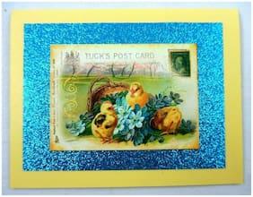 Handmade~Beautiful~Easter~Vintage~Victorian~Tuck's Postcard~Style~Greeting Card