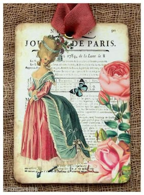 Hang Tags  FRENCH MARIE ANTOINETTE JOURNAL TAGS or MAGNET #270  Gift Tags