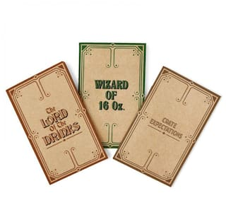 Happily Unmarried Book Spoof Little Brown Notebook