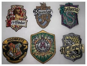 Harry Potter School Set of 6 British Patches with Triwizard