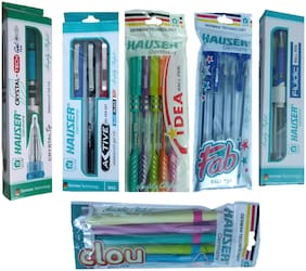Hauser Ball Pen ( Multicolor , Set of 6 )