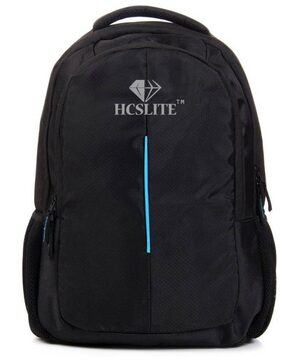 HCS Lite 20 Kilogram Capacity Black school and Laptop bag for boys / girls