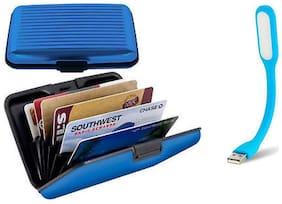 HD Aluma Wallet Designer Card Holder & USB LED Light (Assorted colors)