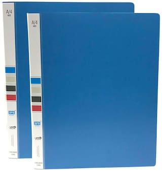 Hello Perfect Ring Binder File A4 Size 2D Plastic Blue - 2 Pack