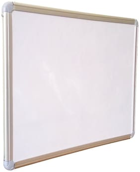 Hello Perfect Sunshine Non-Magnetic Hanging Whiteboard And Blackboard, Double Sided Board, Lightweight Aluminium Frame, 1.5 X 2 Feet (Pack Of 1)