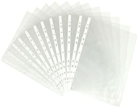 Hello Perfect Document Sleeves, A4 Size Waterproof Transparent Sheet Protector with 11 Holes 100 pcs