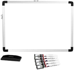 Hello Perfect (Non-Magnetic) Whiteboard, Lightweight Aluminium Frame, 1.5X2 Feet With 5X Whiteboard Marker & Whiteboard Duster