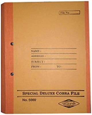 Hello Perfect Special Deluxe Cobra Spring File Post Binder -  (Pack of 6 pcs.)