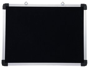 Helloperfect White/Black Board with Accessories,1.5 feet x 1 feet (Pack of 4)