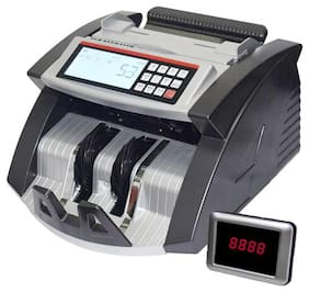 HINDVANTURE LCD Display Note Counting Machine (Counting Speed - 1000 Notes/Min) with Old & New INR- R with Fake Note Detector with Talking Function & Color Changing