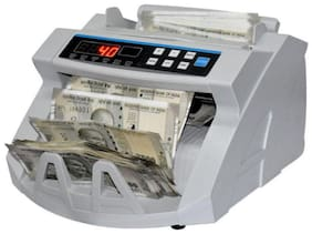 HINDVANTURE Money Counting Machine With Fake Currency Detector and External Display (Works For All New And Old Notes)
