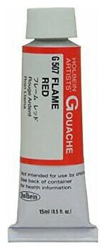 HOLBEIN ARTISTS COLORS G507 DESIGNERS GOUACHE 15ML FLAME RED