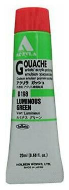 HOLBEIN ARTISTS COLORS D198 ACRYLA GOUACHE 20ml LUMINOUS GREEN