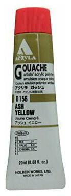 HOLBEIN ARTISTS COLORS D156 ACRYLA GOUACHE 20ml ASH YELLOW
