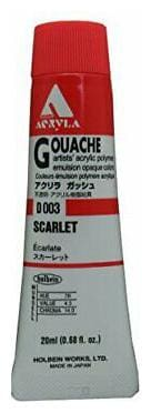 HOLBEIN ARTISTS COLORS D003 ACRYLA GOUACHE 20ml SCARLET
