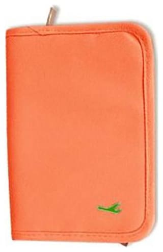 House of Quirk Document Holder Travel Passport Wallet Holder - Orange