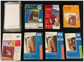 """HP Canon Kodak Photo Paper Lot - 750+ Sheet Count - Size 4"""" x 6"""" Glossy Finish"""